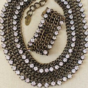 Adia Kibur Statement Necklace and Bracelet Set